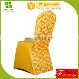Fashionable rosette satin chair covers for wedding/banquet