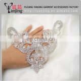 Professional Factory Clear beaded white glass sequin applique designs sew on garment