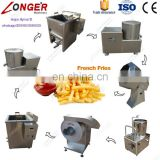 Factory Price Potato Flakes Frying Packing Machinery Potato Chips Making Machine Frozen French Fries Production Line For Sale