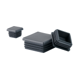 Square plastic pipe end cap plug for tubing fence post and furniture chair glides