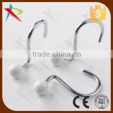 Painting white color ball end shower curtain hooks/hangers