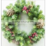 Outdoor Decorate Spring Straw jasmine with Smart Jingle Bells/Aritificial Wreath for Christmas
