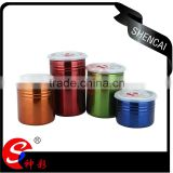 colorful stainless steel kitchen sealed canister/ tea coffee sugar jar canister/ storage canister