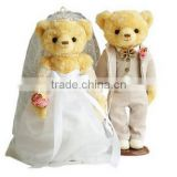 Lovely Brown Bears Cute Teddy Bears /Soft Toy Brown Couple Bear/Stuffed Toy Bear of Wedding Gift