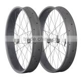 Chinese cheap 26er 90mm width carbon fat bike wheelset snow bike rims with SRAn XX1 free hub