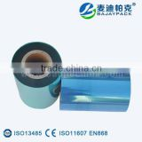 Blue Transparent Plastic Film for Medical Packing