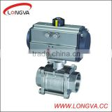 stainless steel 3pcs ball valve pneumatic control valve actuator