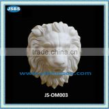 carved stone hanging lion head ornaments