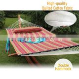 "55"" Hammock Quilted Fabric With Pillow 450LBS Double Size Spreader Bar"