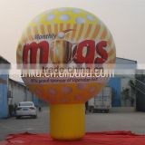 Chinese supplier customized golf ball shape inflatable ground balloon                                                                                                         Supplier's Choice