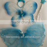 beautiful artificial fairy wing/blue butterfly wing/angle wing party decoration for kids hot