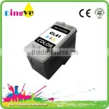 remanufacture ink cartridge for Canon CL41 color inkjet cartridges office ink supplier
