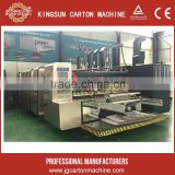 high speed carton box printing slotting die cutting machine with servo motor driving feeding unit