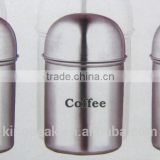 Stainless Steel Mirror Finish Coffee Tea & Sugar Canisters/herbs and spices Jars/Stainless Steel Food Storage Spice Jars