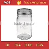 Embossed wide mouth 32 oz mason jar ball with lid                                                                         Quality Choice