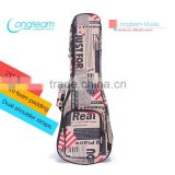 Fashion Flag Pattern Bag for ukulele,10mm padding gig bag for musical instrument