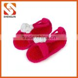 SJ-6284 Handmade Baby Sandals Crochet Baby Shoes Newborn Photo Props red bottom shoes baby