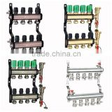 "8 Ports Floor Heating Parts Type and Manifold Floor Heating Part Type 1"" brass manifold"