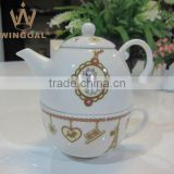 high quality ceramic mini tea for one set with decal                                                                         Quality Choice