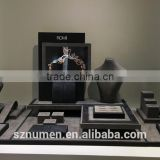 highend jewelry window/counter display fabric/suede/leather display