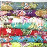 new floral kantha quilts