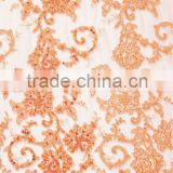 Colorful lace with beading and cording