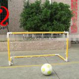 4ft High quality PVC yellow portable mini soccer goal, kids football goal, polyester & nylon net,