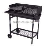 China Direct Supplier of with wheels,Half Barrel Charcoal Trolley bbq grill