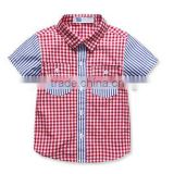 Custom made wholesale striped baby girl check latest shirts for boys