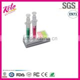 Syringe Shaped Highlighter Pen Set With Note