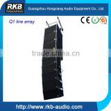 Q1 sound system speaker box two-way double 10 inch line array