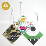 Custom new promotional car gift car air freshners lemon Scent Hanging for car / bathroom / classroom