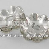 Middle East Rhinestone Bead Jewelry Making, Clear(RSB029NF-01)