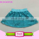 Hot baby Girl's Wholesale Turquoise Sequins Skirt Dance Skirt Baby pettiskirt                                                                         Quality Choice
