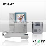 "ETE door phone intercom system 4""TFT LCD handset monitor color ETE apartment wired night vision ring doorbell video"