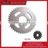 Motorcycle parts chain sprocket,motorcycle parts for suzuki ax100,new product motorcycle chain drive