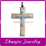 Top Seller Religious Catholic Jewelry Stainless Steel Three Layers Jesus Cross Pendant With Shiny Crystal For Muslim