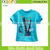 2015 Crocodile t-shirt Fish t shirtbaby clothes wholesale price organic kids boy cartoon t-shirt