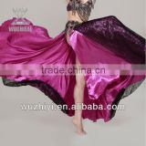 Hot Belly Dance Costumes, Silk Sexy Bellydancer Practise Wear,Belly Dancing Performance Dress for Dancer (QC2058)