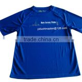 custom wholesale promotional blue printing t-shirt (OEM)