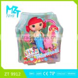 2015 New !Eco-friendly Button Girl( the mermaid doll series)+animal+cloth barbie doll (2 model mixed)