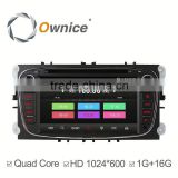Ownice C300 quad core Car DVD for Ford focus 2 3 Mondeo S-max smax support Bluetooth stereo steering wheel control