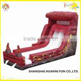2015 wet dry commercial inflatable water slide slip n slide,giant inflat slide for kids and adult