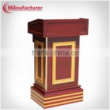 Solid Wood Drawer Conference Lecture Podium Desk for Hotel/School/Meeting