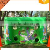 hot sale custom inflatable soccer game, inflatable soccer goal, inflatable football goal for chirdren