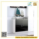 Simple design black and white lacqured sideboard high gloss sideboard with 1 door 2 drawers