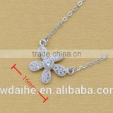 Micro s925 pure silver studded drill lilac collarbone short chain necklace with women's creative flowers