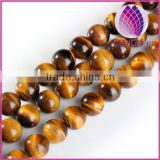 Natural A grade yellow tiger eye round beads