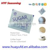 Coffee Sugar Packet 3g 4g 5g Brown Sugar Sticks white Color Sugar Cane stick for coffee tea