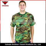 Woodland camo T-shirt china wholesale sports uniform casual breathable military camouflage t-shirts uniform